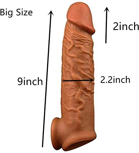 Pènnis Extender Sleeves Elastic fit Silicone Dick Short Sleeve Cuff Sleeves 9 Inch Suitable for Couples Best Gift for…