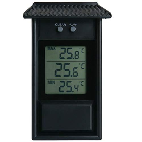 Witte Indoor Thermometer Eaves Vorm Outdoor Tuin Koelkast Waterdichte Thermometer(Zwart) Leven Zwart
