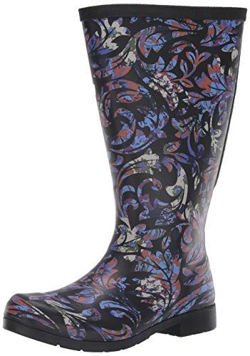 Chooka womens Waterproof Flex Fit Tall With Elastic Rain Boot, Multi, 11 US