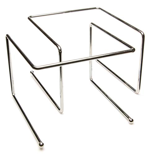 Pizza Stand 2-pack - Metal Tabletop Pizza Pan Serveware Display Riser Supply Multi-pack for Restaurant Food, Pizzeria, Bars, Dessert Trays, and Appetizers