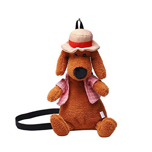 not Plüsch Rucksack, Mode Frauen Mädchen Hund-Like Plüsch Umhängetasche, Seltsame Tasche Süße Umhängetasche, Kindergeschenke 45Cm (Pink)