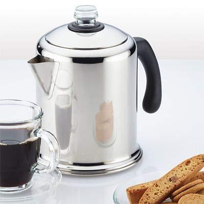 Lakeland Retro Stainless Steel Stovetop Coffee Percolator - Makes 4-8 Cups