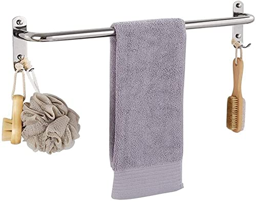 ZJYWMM Barra de Toalla de Acero Inoxidable Sus 304, toallero extendido de un Solo Poste, Accesorios de Hardware de baño de perforación Gratis-A 40 cm Color: F, tamaño: 60 cm (24 Pulgadas)