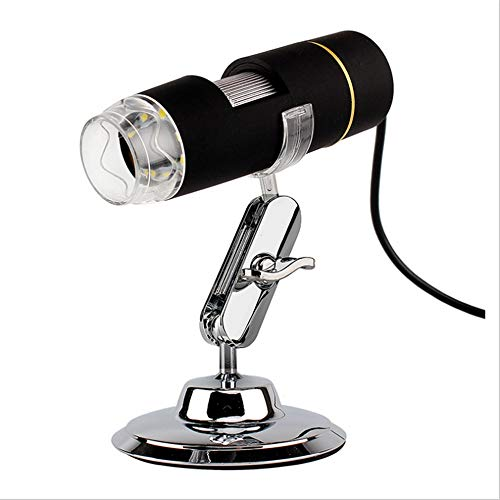YUDIYUDI-EM Kinder Educational Mikroskope, 50 Vergrößerung Endoskop 8 LED-Mikroskop USB-Digital-Minikamera-Mikroskop mit Faltbarer Standplatz Echt 1MP Sensor mit Handmikroskop 500x