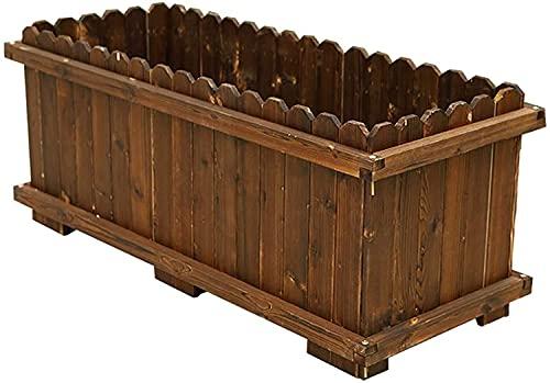 Mesa De Cultivo Huerto Urbano Macetero de metal galvanizado para cama de jardín elevada, cajas de kit de planta de acero marrón al aire libre para cultivar verduras, flores, frutas, hierbas, s