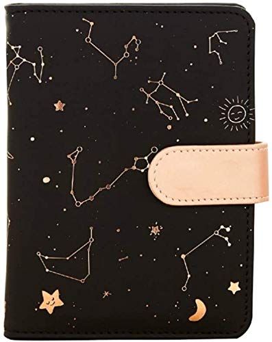 Constelación Notebook cuero de la cubierta del cuaderno planificador diario Diario de viaje con el Bloc de notas for los estudiantes de Snap dljyy