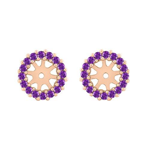 Amethyst Earring Jackets in 14K Rose Gold (3/8 cttw)