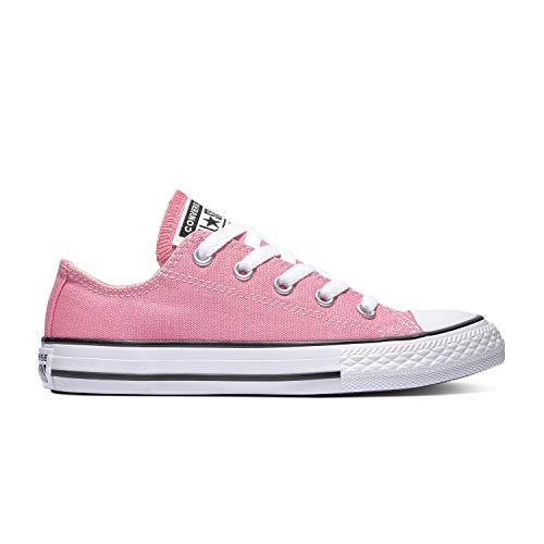 Converse Chuck Taylor Allstar Kinder Unisex Canvas Sportschuhe Low mit 7kmh Aufkleber Pink 15433 27