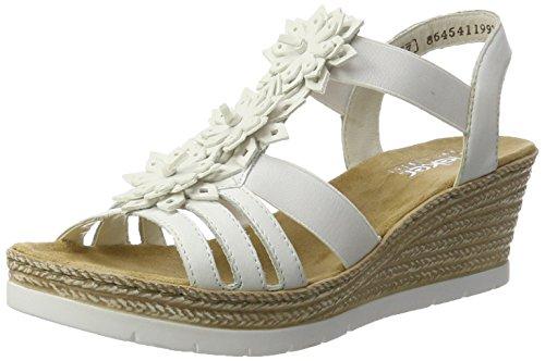 Rieker dames 61949 open sandalen met wighak
