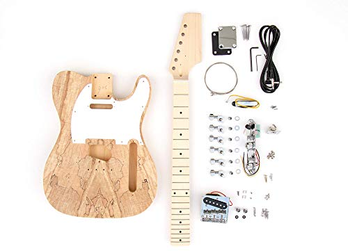 DIY Electric Guitar Kit Spalted Tele Style