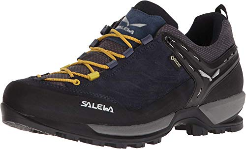 Salewa MS Mountain Trainer Gore-TEX, Zapatos de Senderismo Hombre, Azul (Night Black/Kamille), 43 EU