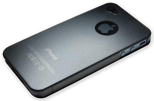 Xcessor Dark Magic Sottile Custodia Rigida in Plastica per Apple iPhone 4 e 4S. Grigio/Semi-Trasparente