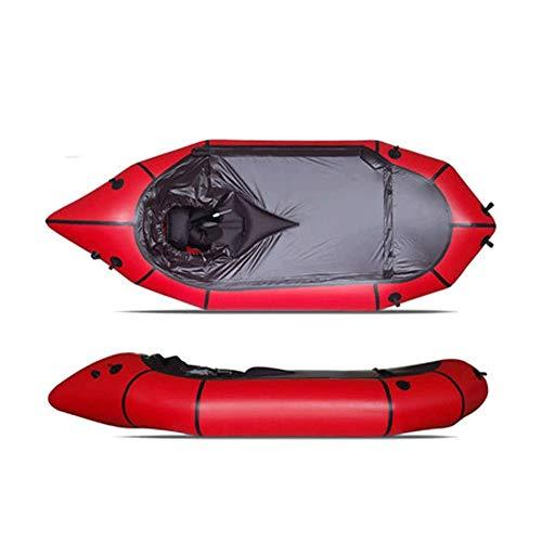 Kayak inflable, Standard Single Barco sin pulpa, se puede utilizar for el nivel de agua blanca 3 Aventura Rafting, Senderismo Aventura, Balsa Crossing, bote de rescate, plana en aguas bravas, Río de v