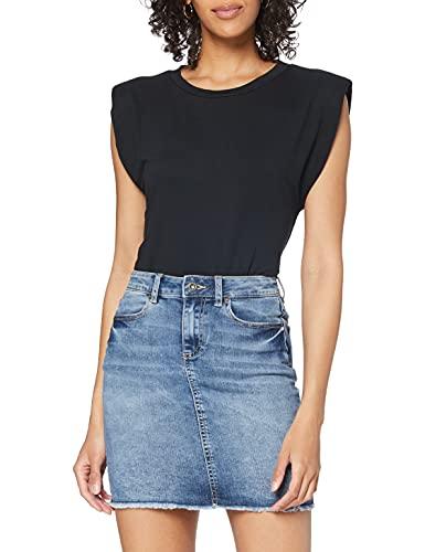 PIECES Female Minirock Jeans Llight Blue Denim
