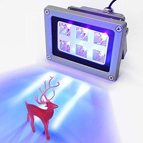 Kacsoo Resin 3D printer UV 405nm UV hars lichtharslamp voor SLA/DLP 3D-printeraccessoires versterkende lichtgevoelige hars, uitgangsvermogen van 6 W/20 W 6W