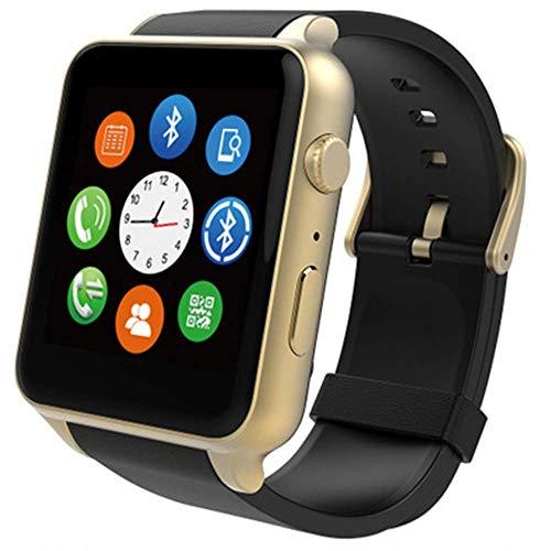 SXXYTCWL Reloj Inteligente con/Ranura de la Tarjeta SIM de la cámara de Llamada/Mensaje sedentario Recordatorio podómetro Reproductor de música Compatible Reloj de Pulsera jianyou (Color : Gold)