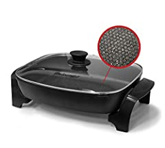 DISHWASHER SAFE and fully immersible in your sink for fast, easy clean-up upon removal of the temperature control unit. Thick cast aluminum body with Black lacquer finish resists rusting or warping for added resilience PFOA FREE marbleized honeycomb ...