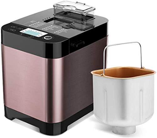 YDBET Elitte Brotbackautomat Multifunktionsedelstahl Brot-Maschine, Programmierbare, 18 Einstellungen, 3 Crust Farben, Reserve & Keep Warm Set