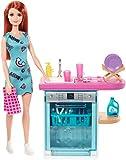 Barbie Muebles de interior, accesorios para la cocina de la casa de muñecas (Mattel FXG34)