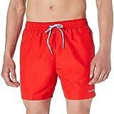 Calvin Klein Medium Drawstring Baador para Hombre, Rojo Feroz, M