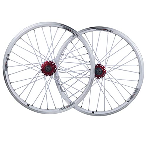 TYXTYX 20 Inch Folding Bike Wheel Set,32 Holes Aluminum Alloy Quick Release V Brake Disc Brake Rim 406 Bicycle Wheel