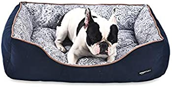 AmazonBasics Cuddler Bolster Pet Bed For Cats or Dogs