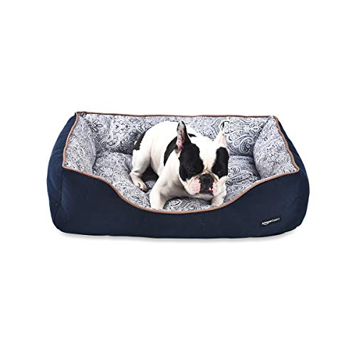 Amazon Basics Cuddler Pet Bed For Cats or Dogs - Soft and Comforting - Medium, Floral Print