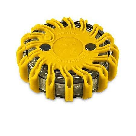 Powerflare accu LED waarschuwingslampje incl. oplader geel