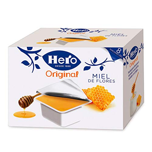 Hero Porciones de Confitura Miel - Paquete de 8 x 25 gr - Total: 200 gr - [Pack de 6]