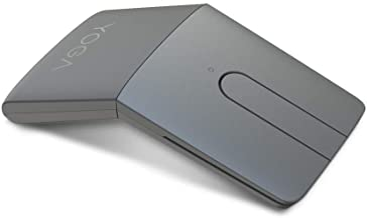 Lenovo Yoga Mouse with Laser Presenter, 2.4GHz Wireless Nano Receiver & Bluetooth 5.0, Award-Winning Ergonomic V-Shape, Ad...