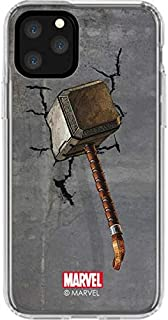Skinit Clear Phone Case for iPhone 11 Pro - Officially Licensed Marvel/Disney Mjolnir Hammer of Thor Design