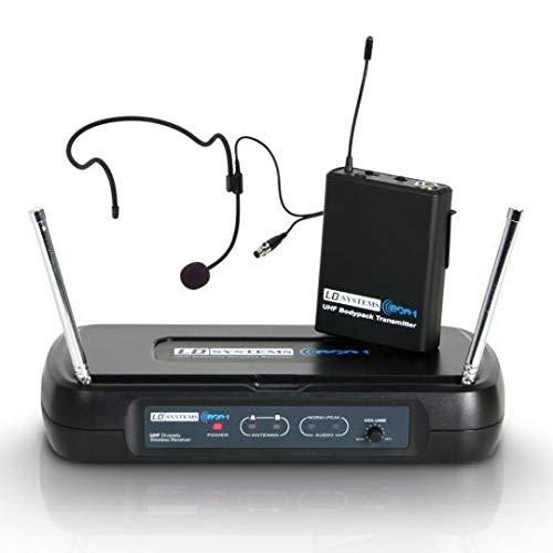 LD Systems LDWSECO2BPH3 ECO 2 draadloze microfoonsysteem met riem Pack en headset (864,5 MHz)