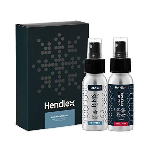 Felgenschutz Felgenversiegelung Nano Beschichtung | Autopflege Kit für Felgenpflege von Hendlex 50ml