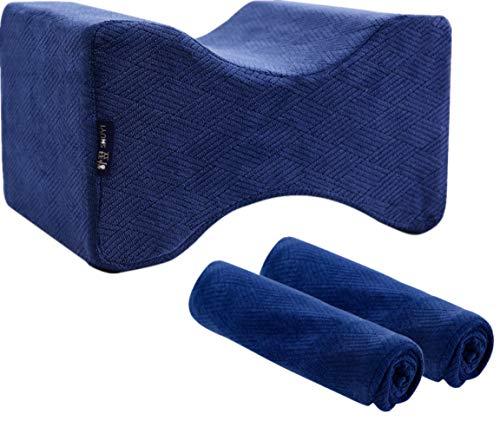Eucoz Knee Pillow Case Replacement Soft Velvet Knee Pillow Cover,Fit Most Leg Positioner Pillows,Comfortable,Machine Washable