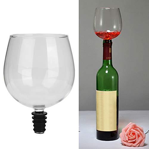 Gaeirt Copa de champán, Buena hermeticidad, fácil de Limpiar, Copa de Vino Tinto empaquetada en un tapón de Botella de Vino para la Playa, para Acampar