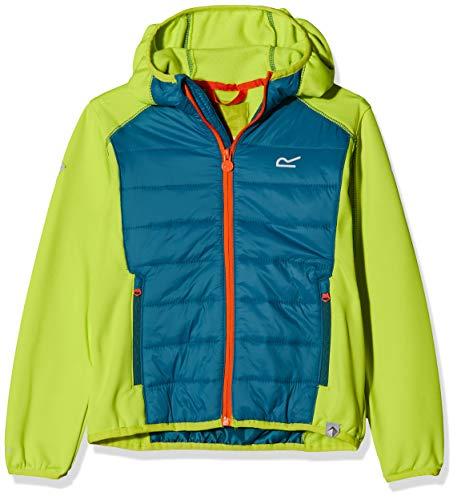 Regatta Kielder IV Extol Stretch-Jacke für Kinder, wasserabweisend, leicht, isoliert 3-4 Jahre Grün (Lime Punch/Sea Blue)