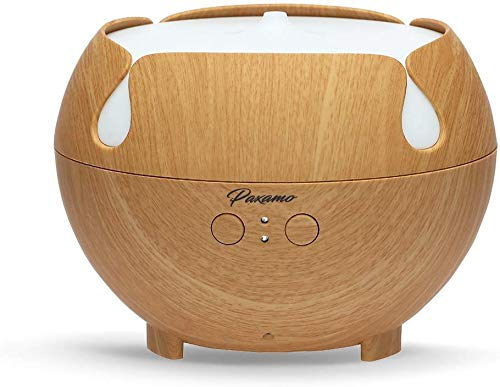 Large Essential Oil Diffuser 600ML, Quiet Aroma Diffuser, Light Wood Grain,Rainbow LED Light, Last Overnight for Home & Spa