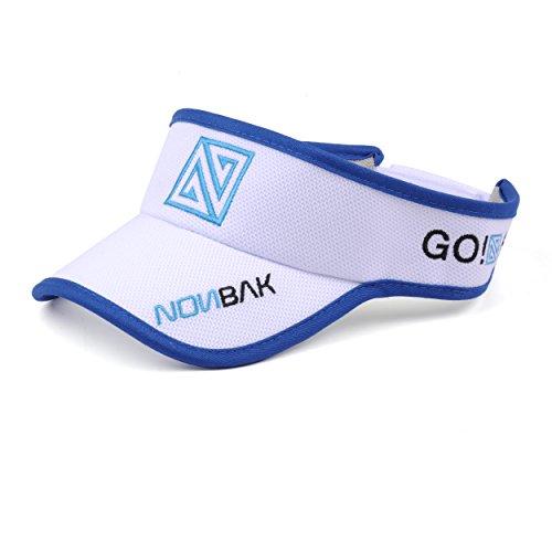 Nonbak Nonbak Flexfit Visor Curved Visor Cap - Unisex- Sonnenblende mit Klettverschluss (weiß)