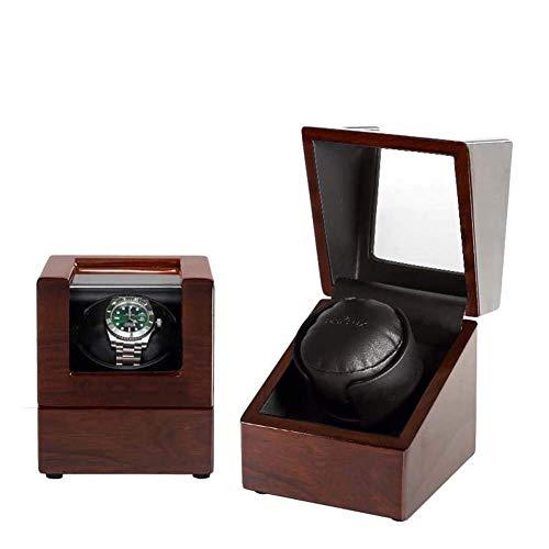 CLJ-LJ Hogar individual Watch Winder, devanaderas reloj automático a prueba de polvo caja de madera caja de la caja del reloj de la devanadera elegante pantalla de Reloj Reloj de almacenamiento girato