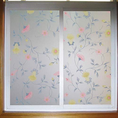 Pellicola elettrostatica per vetri, adesivo decorativo in vetro gloria mattutina, adatto per bagno, camera da letto, soggiorno, cucina N 40x200 cm