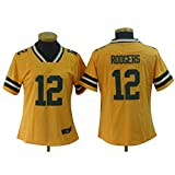 Aaron Rodgers Green Bay Packers # 12 Rugby Jersey, New Era T Shirt, Short Sleeve Sport Top-XS-XXL-XS