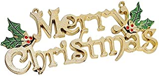 JRong Designs Merry Christmas Signs, Decorative Glittery Hanging Signs for Xmas - Merry Christmas Door Wall Tree Hanging S...