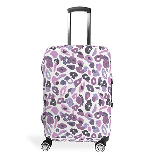 Lind88 Leopard Grain Travel Suitcase Covers - Sexy Trendy Multi Size for Many Suitcase White XL(30-32 inch)