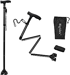 in budget affordable Big Alex foldable cane with LED light, adjustable portable cane, …
