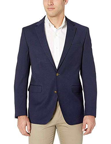 Blazer classique Dockers - À 2 boutons - Bleu marine - Pour homme - Bleu - 52 longue