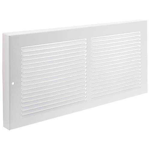 Imperial 14' x 6' Painted Metal Baseboard Grille, White, RG0033