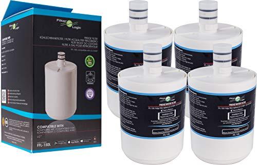 Filterlogic FFL-150L | Filtro de Agua Compatible con LG ADQ72910901, GEN11042F-08, GEN11042FR-08, 5231JA2002A, LT500P Premium Filter Cartucho filtrado Interno para frigorífico Nevera (Paquete de 4)
