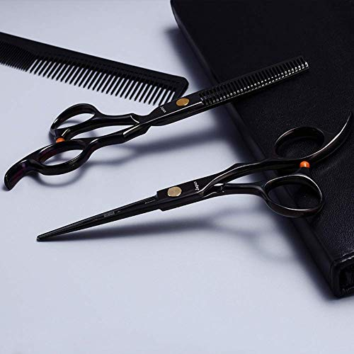 Tijeras de peluquería Tijeras Profesionales de Acero Inoxidable de 6 'para Hombres, Mujeres, salón y peluquería, Tijeras para Cortar el Cabello y Recortar la Barba, Uso doméstico, con Estuche de cuer