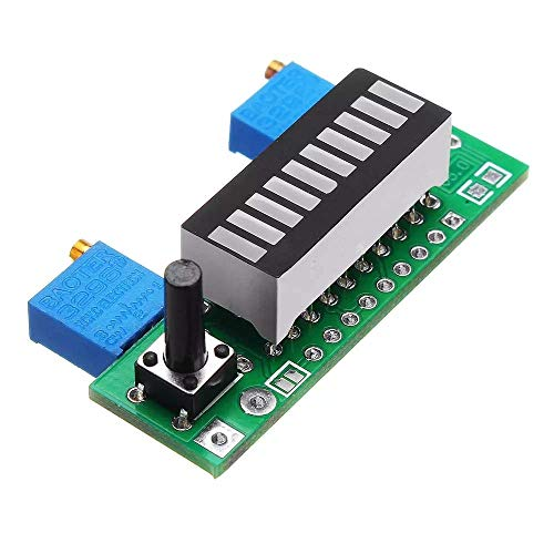 Nologo CKQ-KQ 5pcs LM3914 Blue Batter Indicatory Capacity Module LED Power Level Display Tester Board Spot Steuermodul