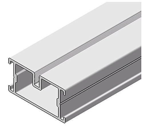 Gartenwelt Riegelsberger 10 Stück, Premium Unterkonstruktion aus Aluminium 23x45x1950 mm für Terrassen Dielen Alu-Schiene Aluminiumsystem Made in Germany